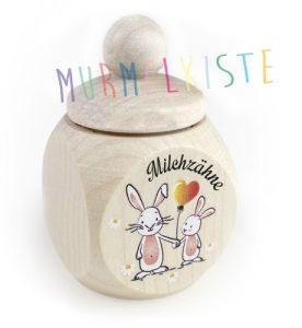 Milchzahndose Hasen • Zubehör-Milchzahndosen / Löckchendosen