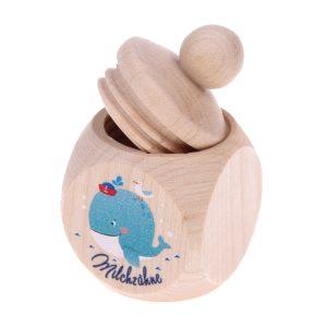 Milchzahndose Wal • Zubehör-Milchzahndosen / Löckchendosen